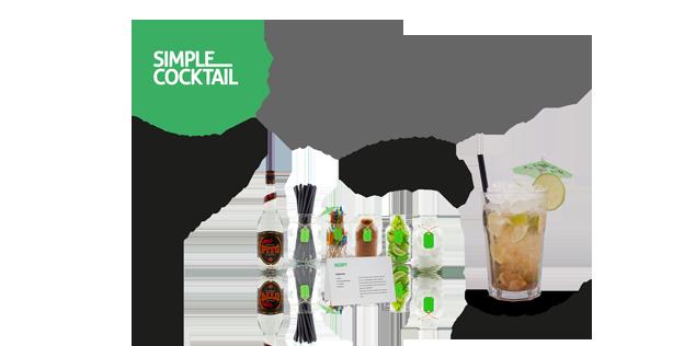 Cocktail-Set aussuchen... Cocktail-Set liefern lassen... Cocktails selber machen!